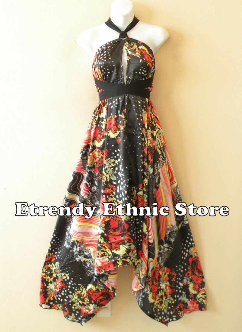 1SD103 - Multi Wear Silk Scarf Dress