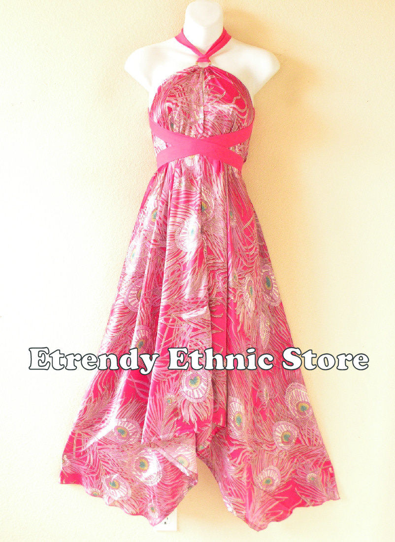 1SD108 - Multi Wear Silk Scarf Dress