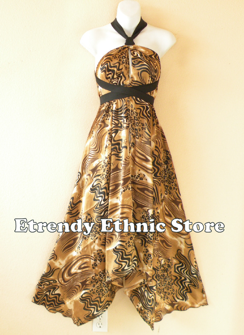 1SD109 - Multi Wear Silk Scarf Dress