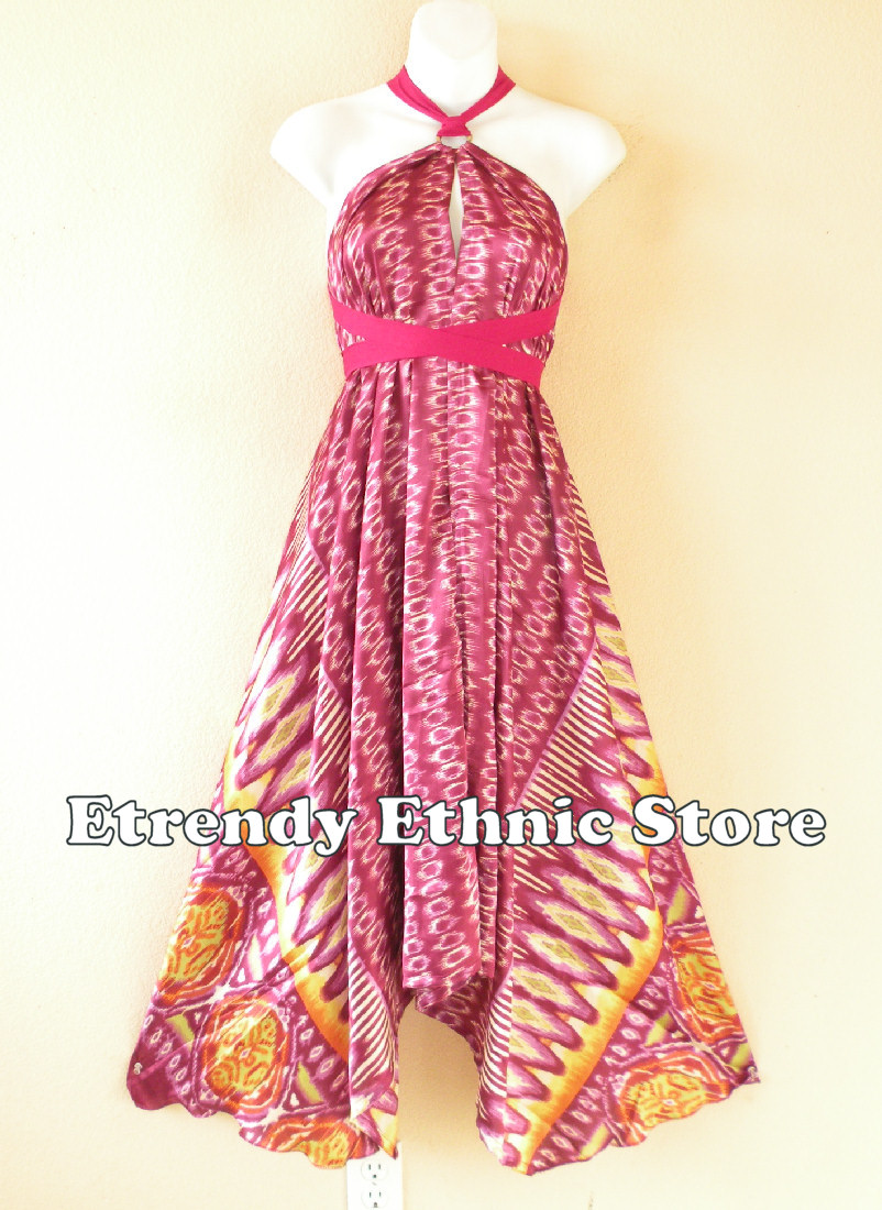1SD110 - Multi Wear Silk Scarf Dress