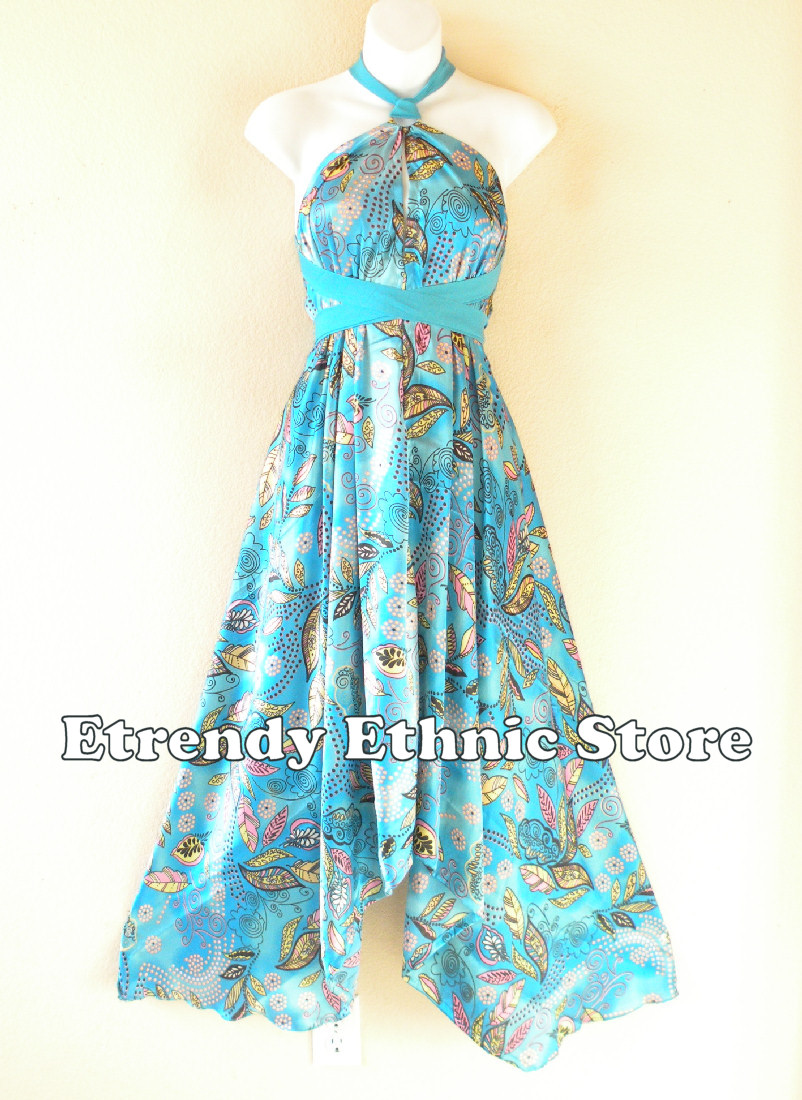 1SD111 - Multi Wear Silk Scarf Dress