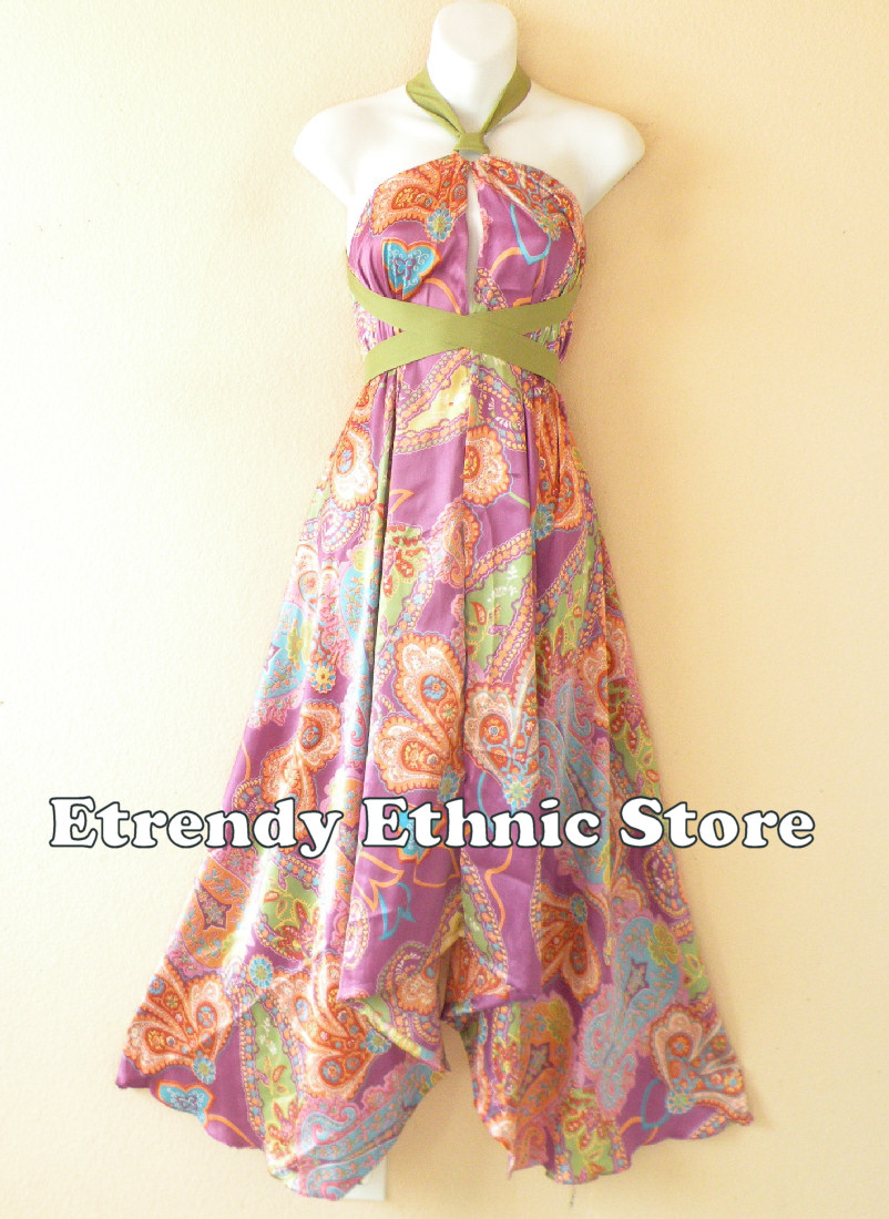 1SD114 - Multi Wear Silk Scarf Dress