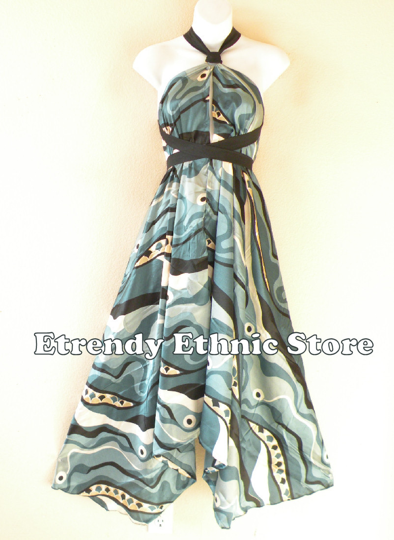 1SD116 - Multi Wear Silk Scarf Dress