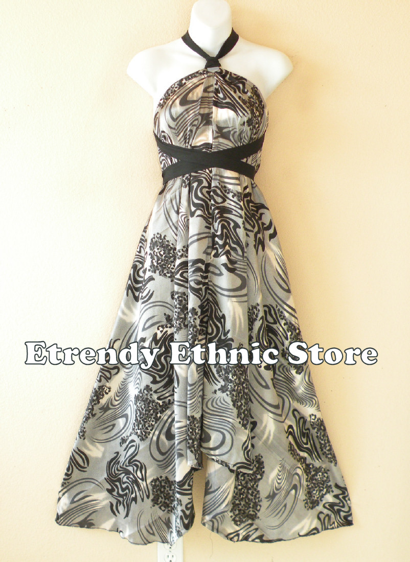 1SD117 - Multi Wear Silk Scarf Dress