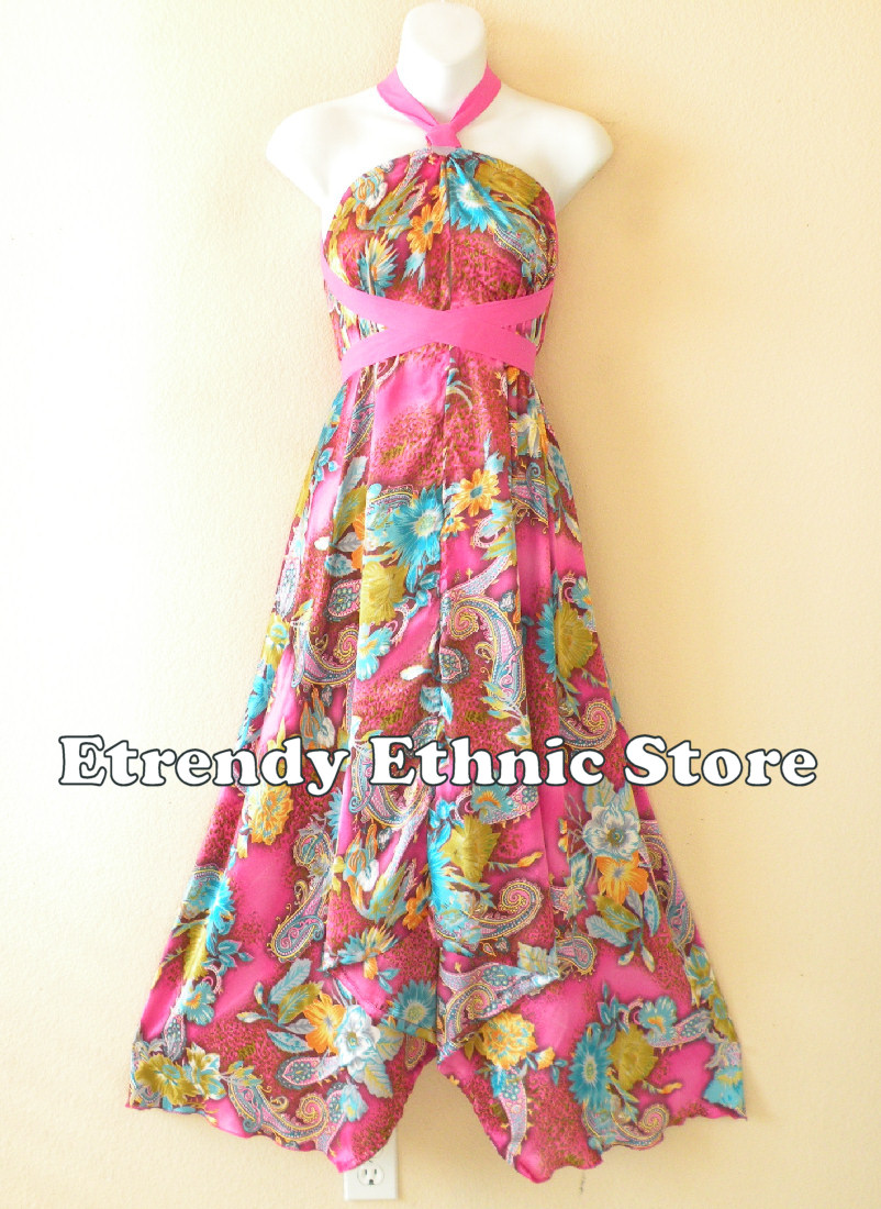 1SD119 - Multi Wear Silk Scarf Dress