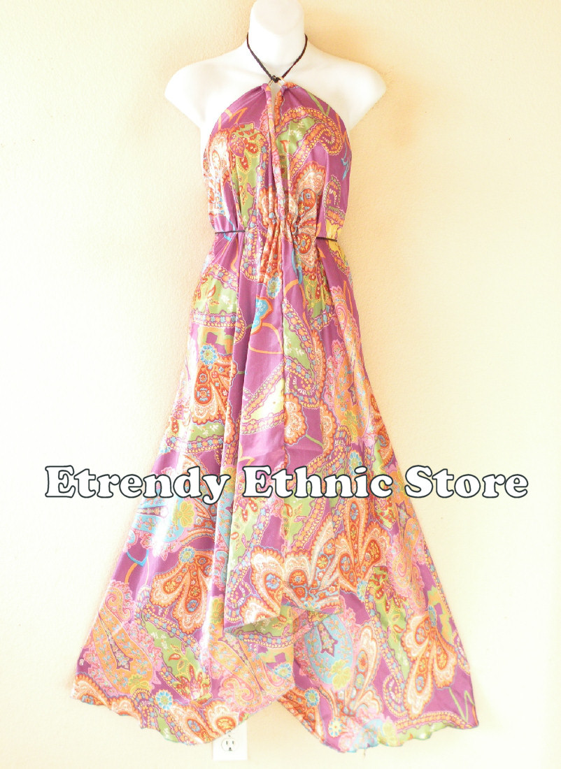 2SD104 - Multi Wear Silk Scarf Dress