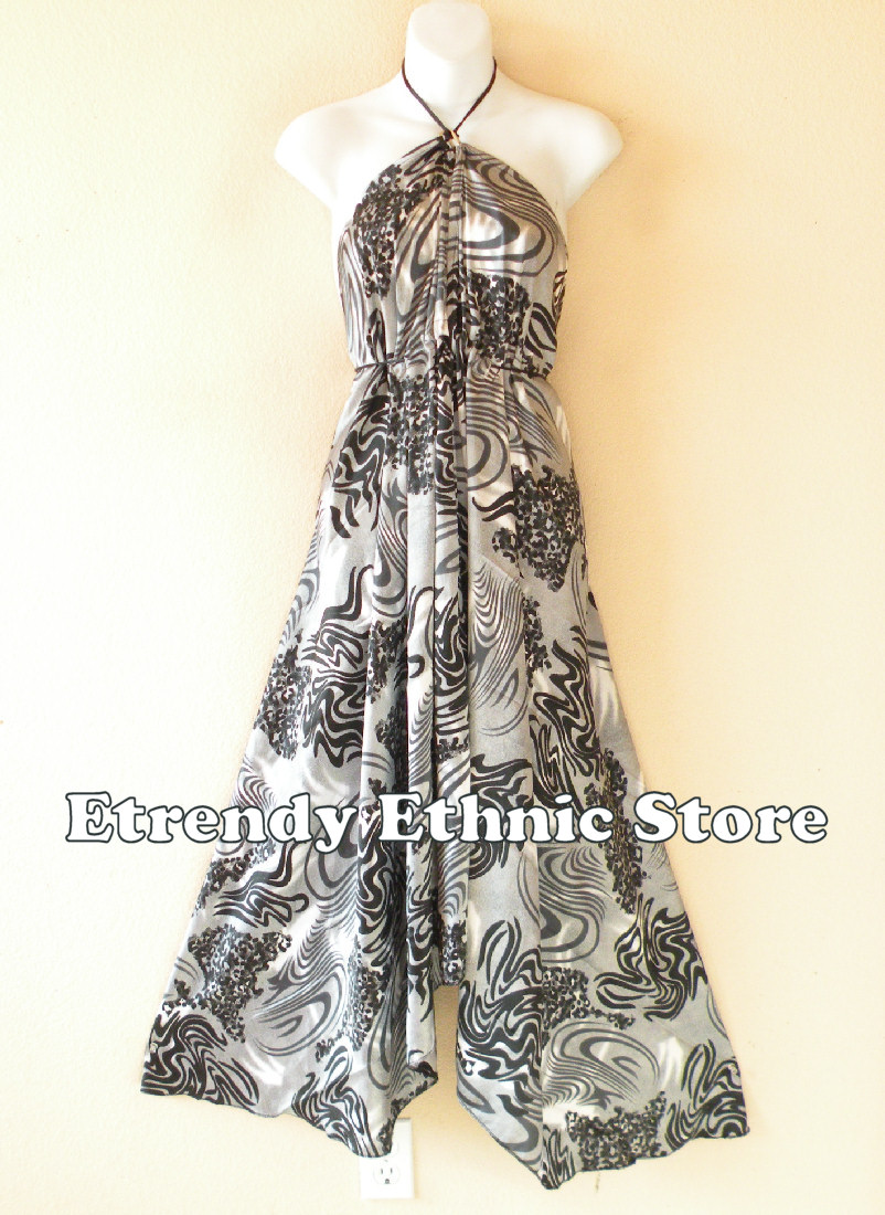 2SD105 - Multi Wear Silk Scarf Dress