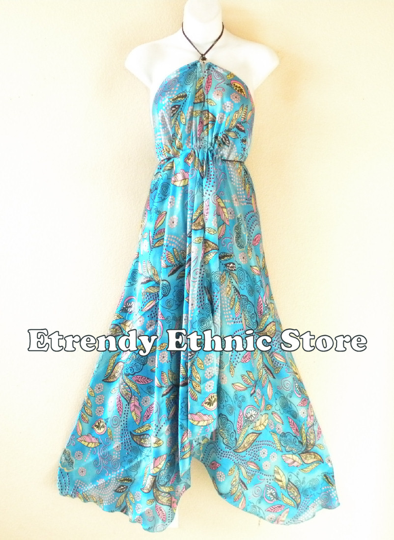 2SD107 - Multi Wear Silk Scarf Dress