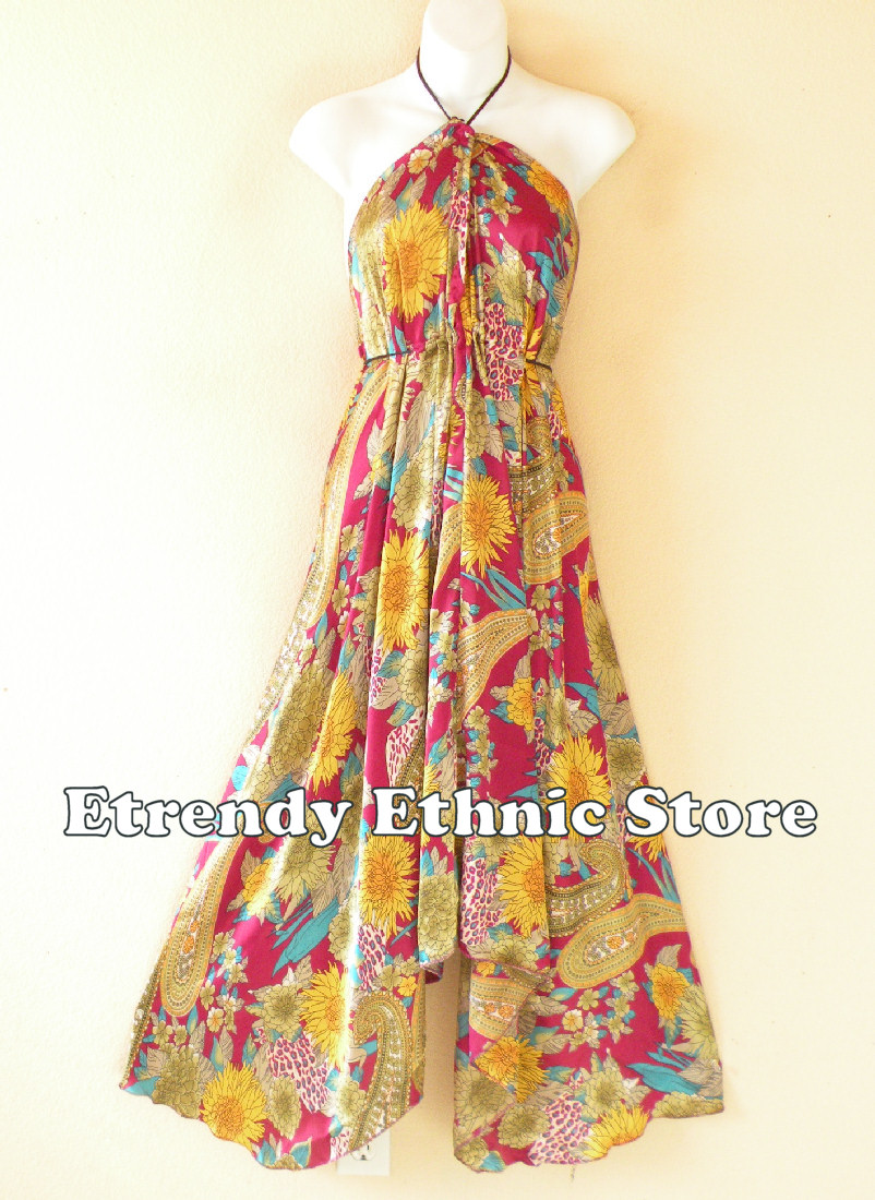2SD109 - Multi Wear Silk Scarf Dress