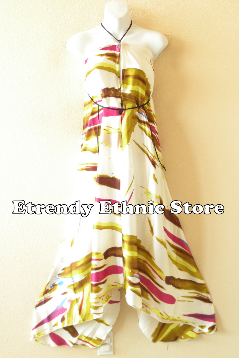 2SD093 - Multi Wear Silk Scarf Dress