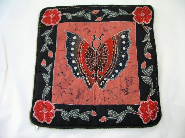 Handpainted Batik Cushion, Pillow Slip