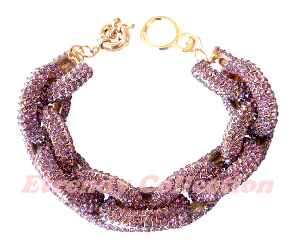 Amethyst Chunky Classic Chain Bracelet