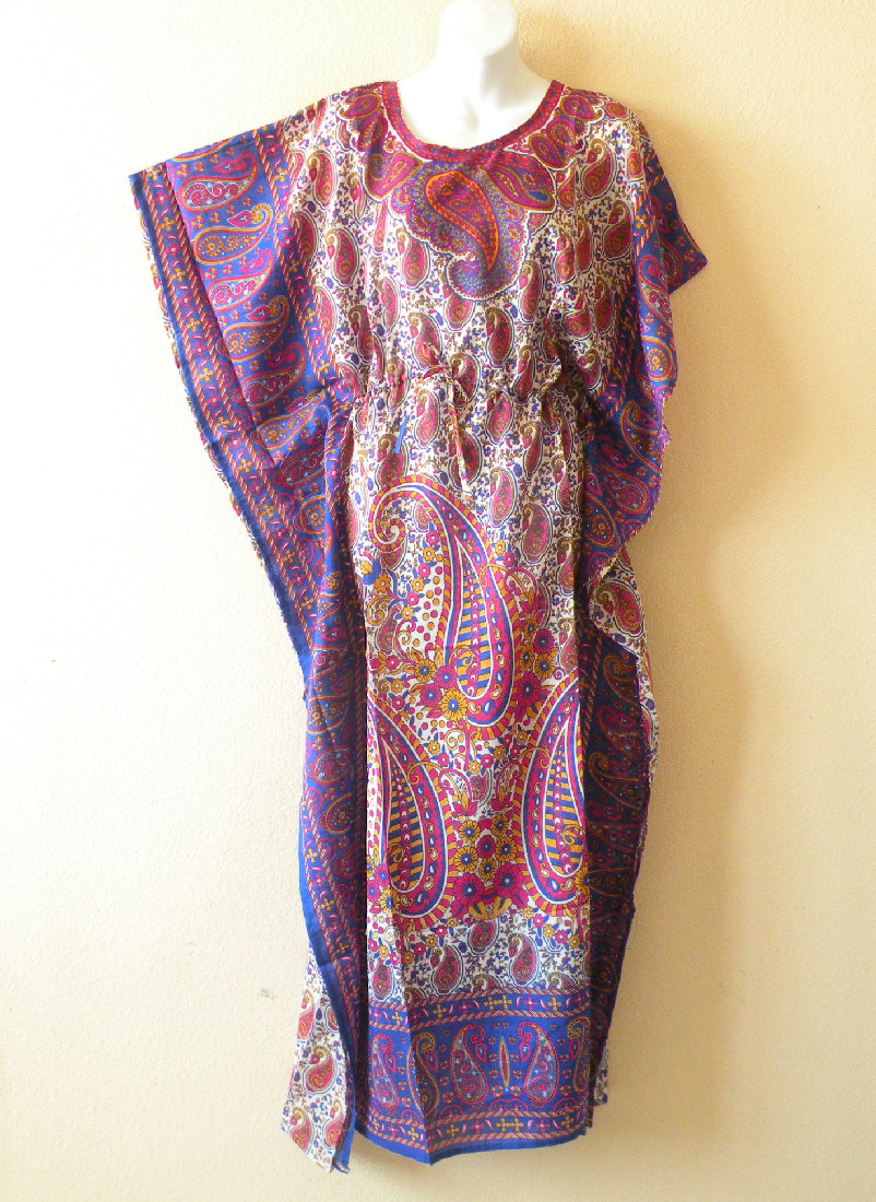 EL30 - Empire Waist Viscose Kaftan Dress