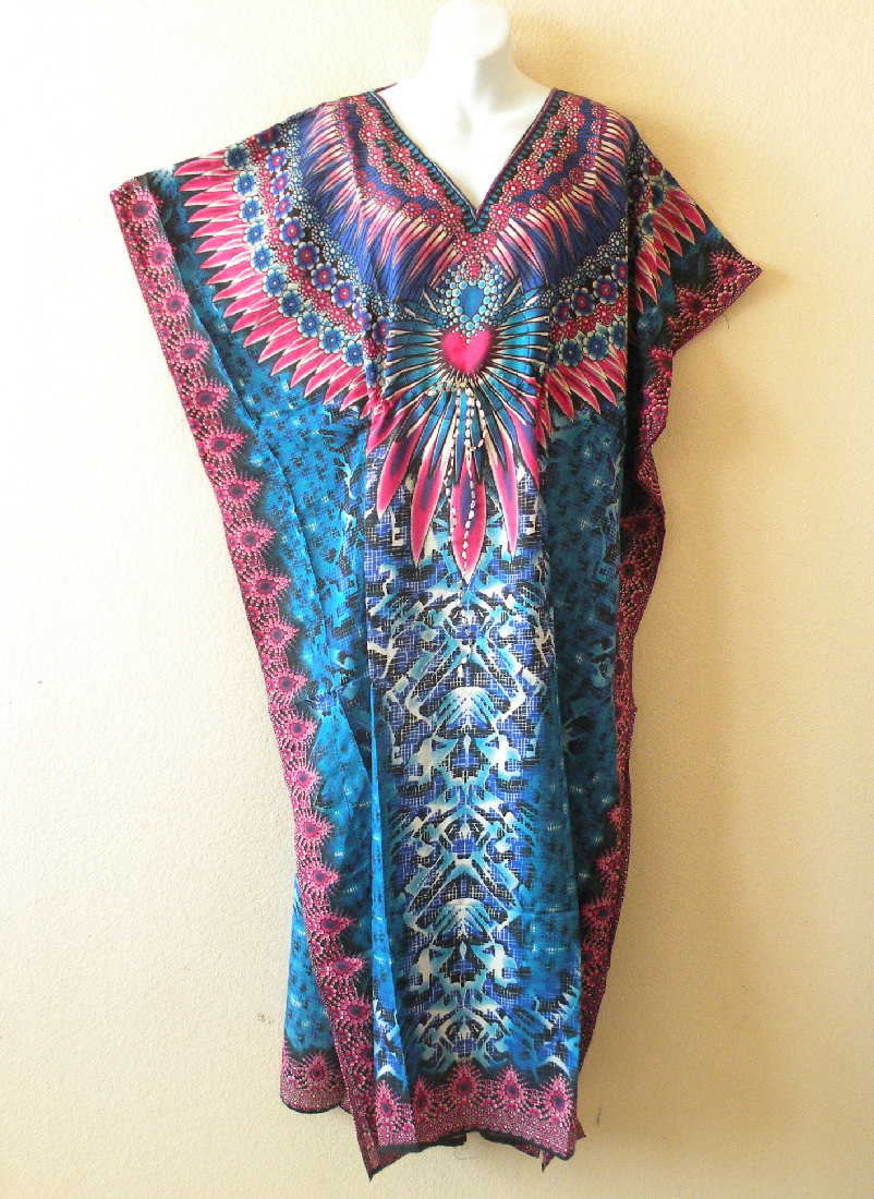 EL52 - Empire Waist Viscose Kaftan Dress