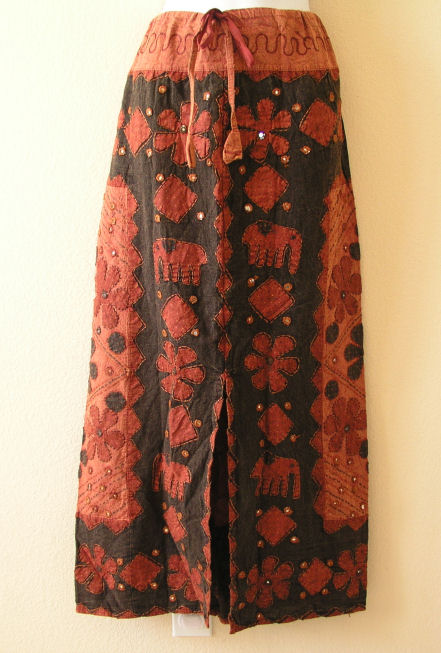 G131 Renaissance Heavily Embroidered Long Skirt
