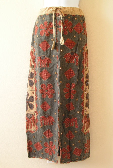 G140 Renaissance Heavily Embroidered Long Skirt