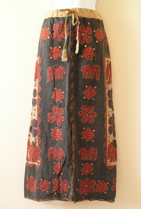 G141 Renaissance Heavily Embroidered Long Skirt