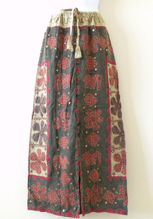 G161 Renaissance Heavily Embroidered Long Skirt