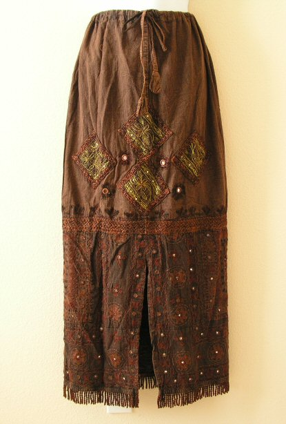 G17 Renaissance Heavily Embroidered Long Skirt