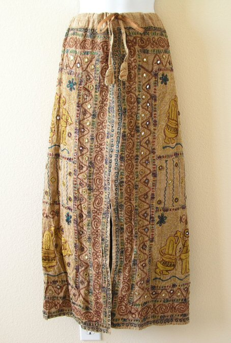 G69 Renaissance Heavily Embroidered Long Skirt