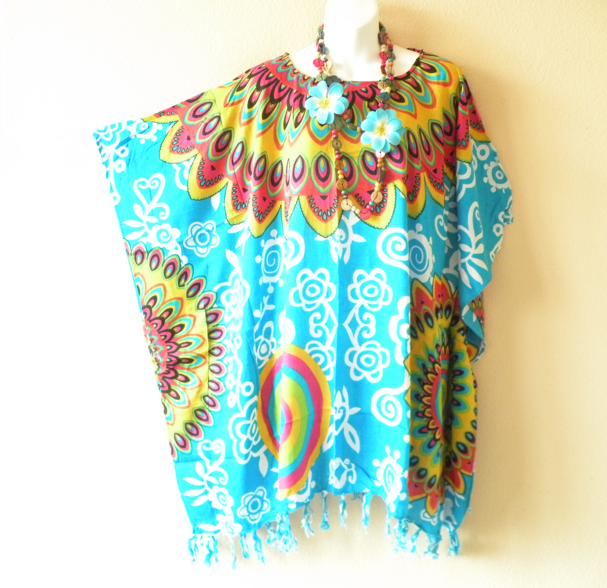 KB5x179 Plus Size Kaftan Tunic Blouse Top