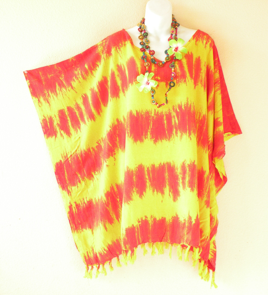 KB712 Plus Size Tie Dye Kaftan Blouse Top