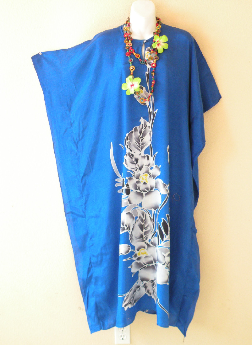 KD115 Plus Size Batik Kaftan Tunic Dress