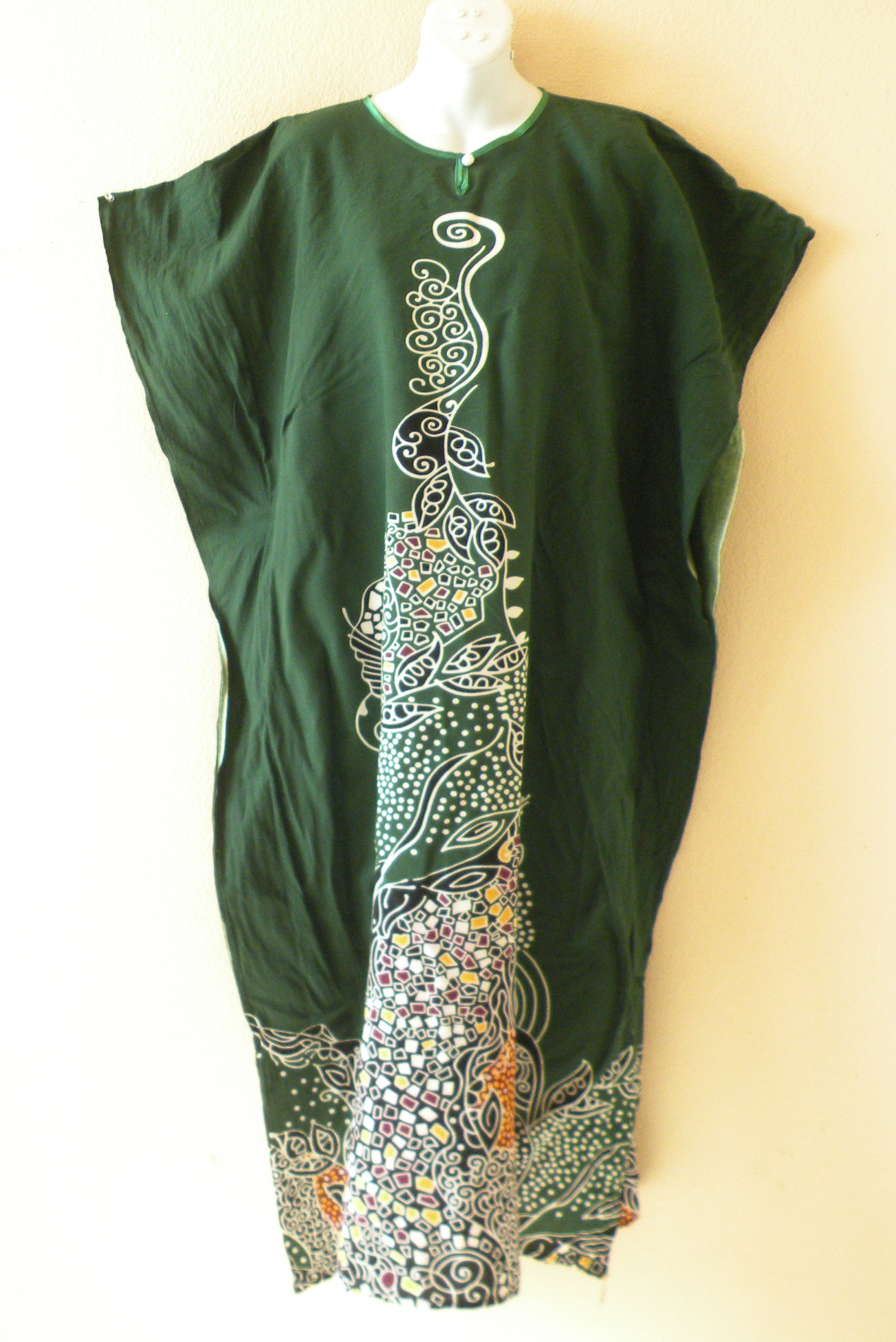 KD277 Batik Kaftan Caftan Abaya Dress