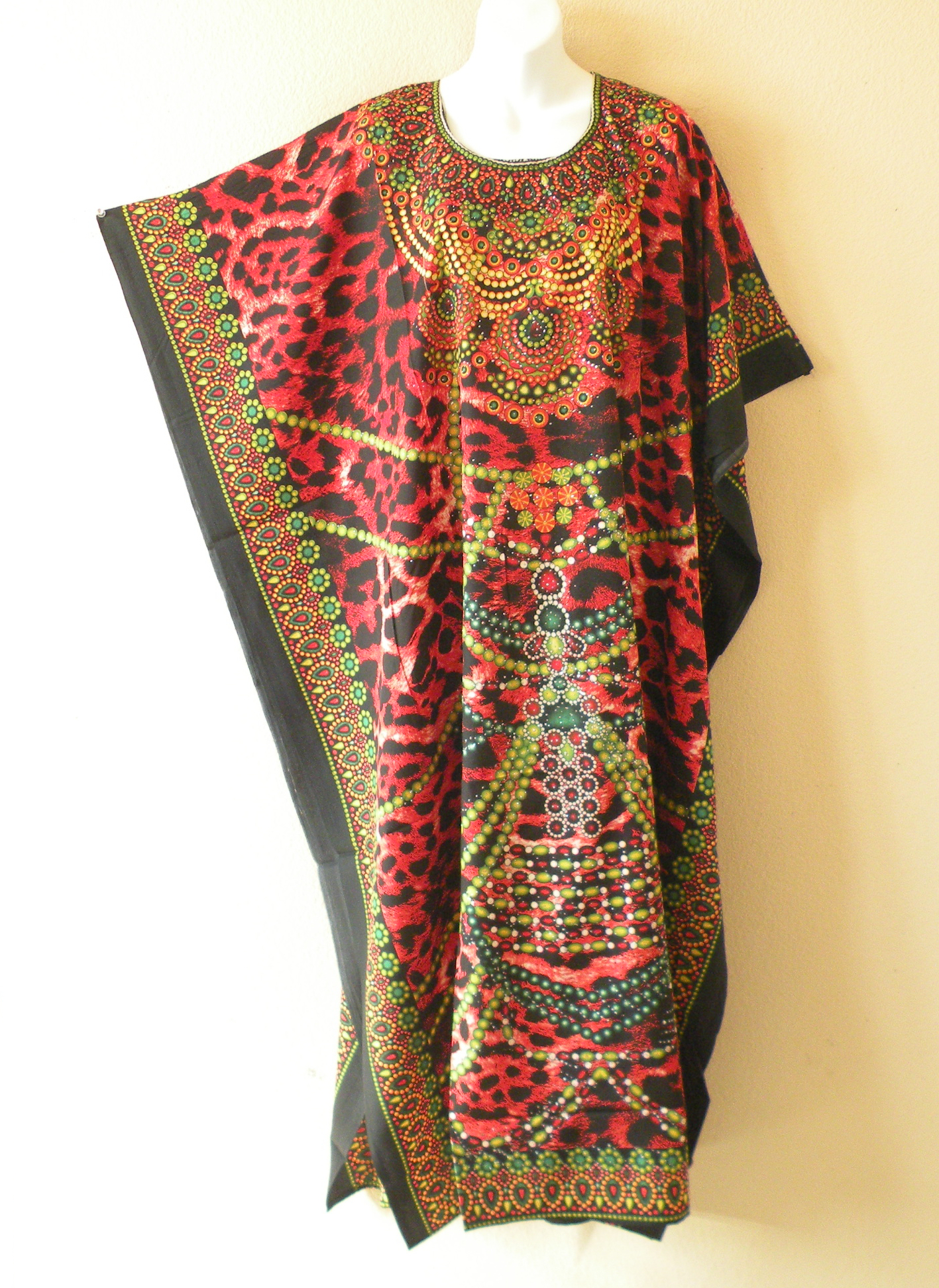 KD420 - Viscose Glitter Kaftan Dress