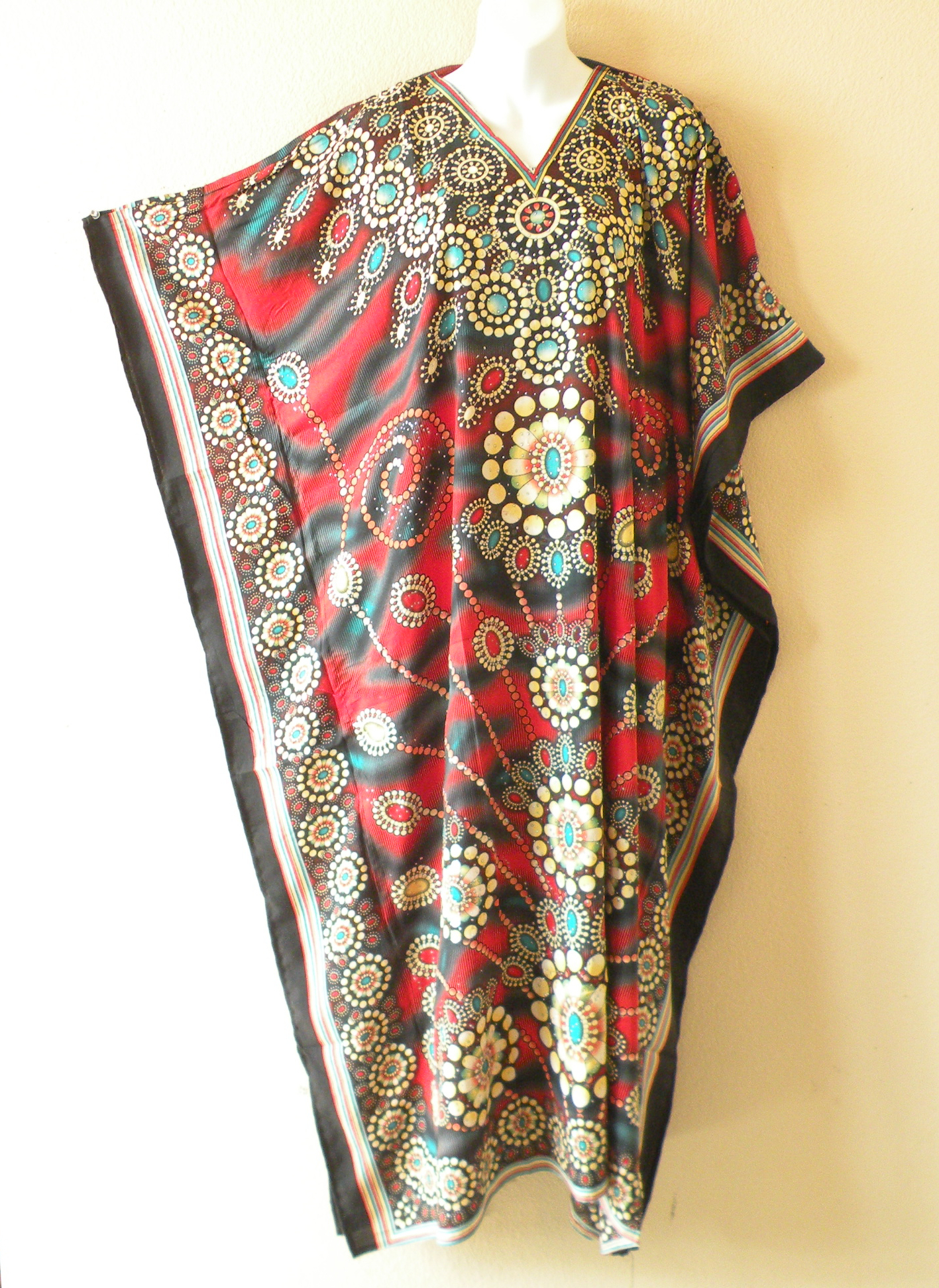 KD461 - Viscose Glitter Kaftan Dress