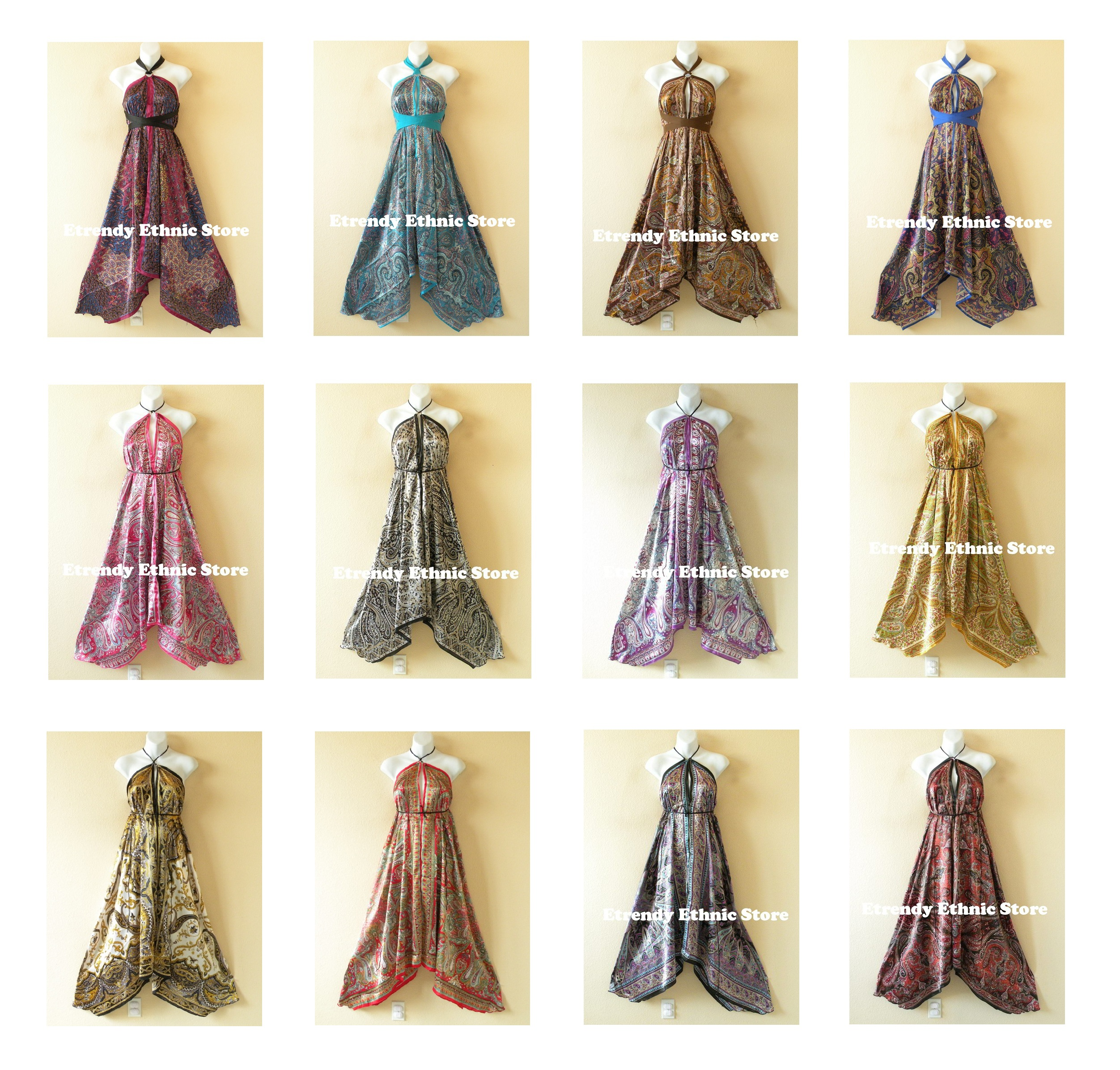 Wholesale Silk Scarf Dresses - 40pcs