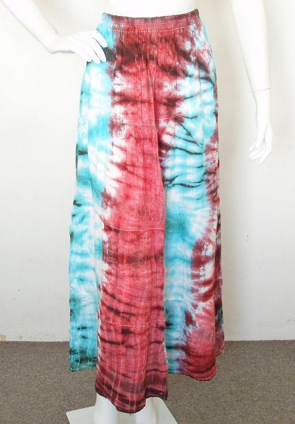 Tie dye Embroidered Boho Hippie Gypsy Skirt