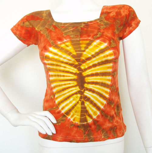 Tie & Dye BoHo Hippie Gypsy Top / Blouse